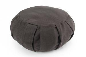 Grikių lukštų apvali pagalvė (pufas)_Buckwheat hulls pillow