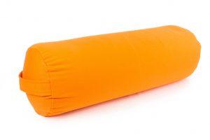 Oranžinė grikių lukštų jogos pagalvėlė_Orange buckwheat hulls yoga pillow