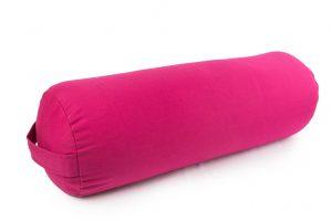 Rožinė jogos pagalvė_Pink bolster pillow