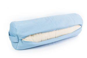 Žydra jogos pagalvė_Light blue yoga pillow